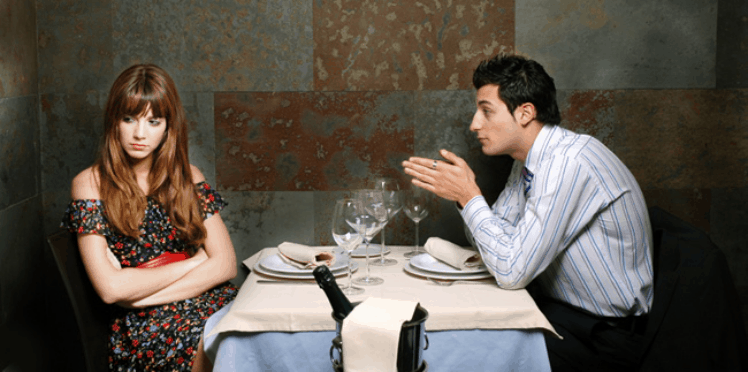 A dinner date that turned awkward