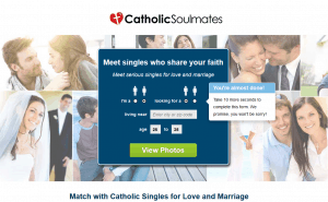 The homepage of CatholicSoulMates