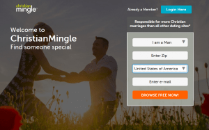 Christian Mingle Homepage