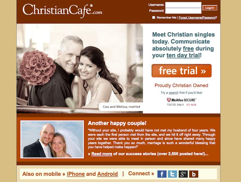 About me on a christian dating site