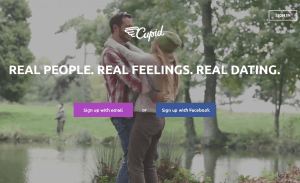 Cupid.com homepage