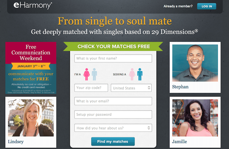 Comparison of online dating websites