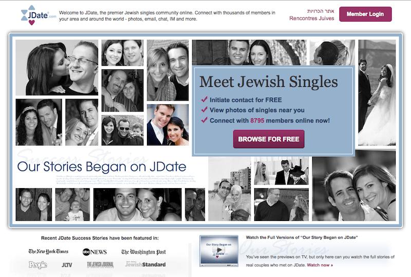 dating history internet jewish single