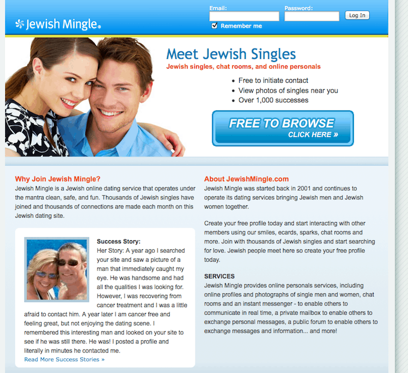 Matchmaking site that asks are you kosher