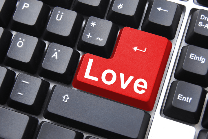 A keyboard with Love written on it