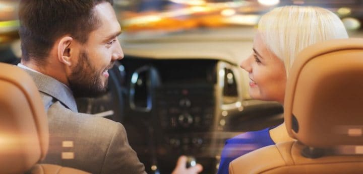 Fun date in a celebrity's car