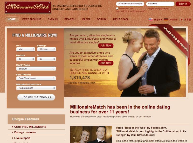 Site de rencontres pour millionnaires