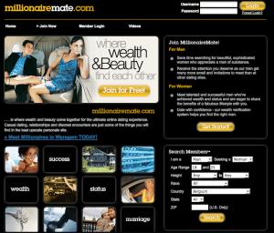 MillionaireMate.com website