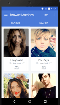 The smartphone app for OkCupid