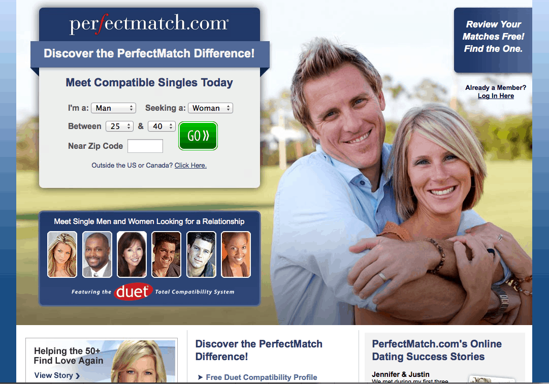 Online dating services comparison