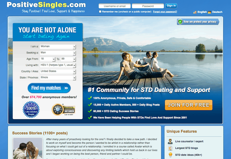 Std positive dating sites