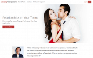 SeekingArrangement homepage