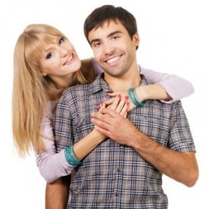 Young couple that met on a dating site